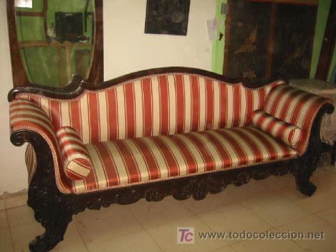 Precioso sofa serlong del siglo xix en madera d comprar for Sofas antiguos
