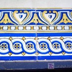 Antigüedades: DOS AZULEJOS CON MAS DE UN SIGLO DE ANTIGÜEDAD. Lote 4788338