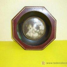 Antigüedades: PEQUEÑO CUADRO EXAGONAL. Lote 4827992
