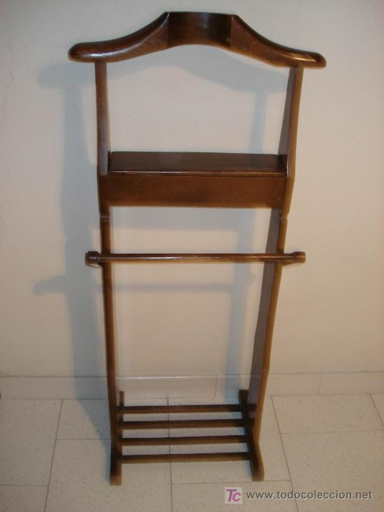 Segunda Mano Antiguedades Muebles : Antiguo perchero galán de noche pino y ha vendido
