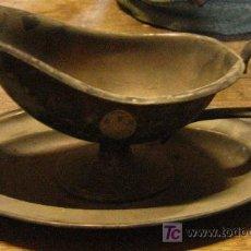 Antigüedades: SALSERA CON ANAGRAMA DE LA ACADEMIA GENERAL. Lote 4952773