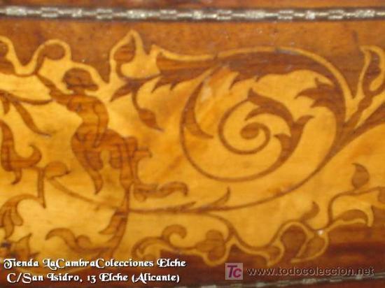 Antigüedades: COMODA EN NOGAL, CAOBA Y MARQUETERIA EN LIMONCILLO - Foto 11 - 26501631