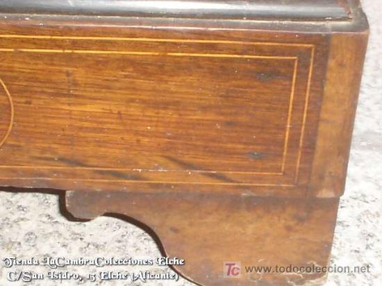 Antigüedades: COMODA EN NOGAL, CAOBA Y MARQUETERIA EN LIMONCILLO - Foto 13 - 26501631