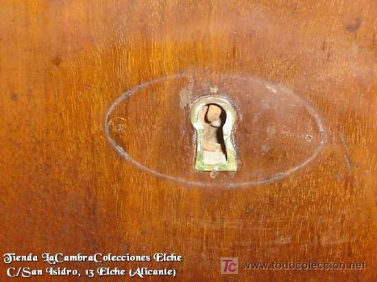 Antigüedades: COMODA EN NOGAL, CAOBA Y MARQUETERIA EN LIMONCILLO - Foto 14 - 26501631
