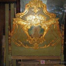 Antigüedades: ESPECTACULAR CAMA, MESITAS Y SILLAS. Lote 27161157