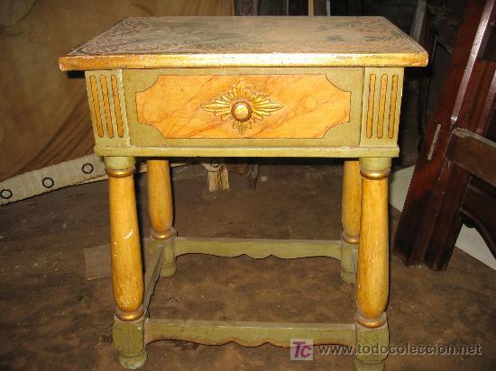 Antigüedades: Espectacular cama, mesitas y sillas - Foto 3 - 27161157