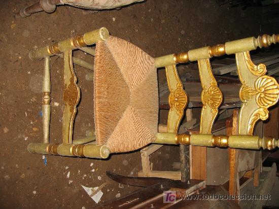 Antigüedades: Espectacular cama, mesitas y sillas - Foto 5 - 27161157