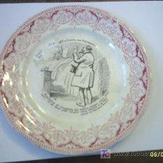 Antigüedades: PLATO DE PORCELANA SARREGUEMINES. Lote 24171259
