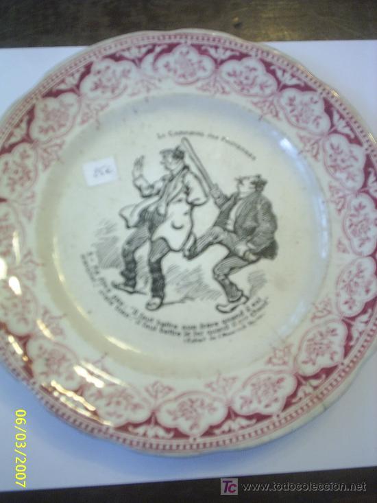 PLATO DE PORCELANA SARREGUEMINES (Antigüedades - Porcelana y Cerámica - Francesa - Limoges)