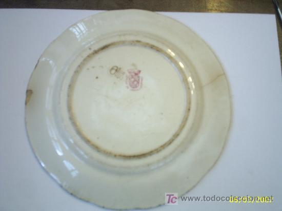 Antigüedades: Plato de porcelana Sarreguemines - Foto 2 - 25270841