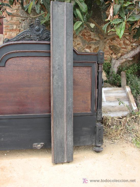 Antigüedades: Espectacular cama completa de madera de chicaranda por restaurar - Foto 4 - 26520552