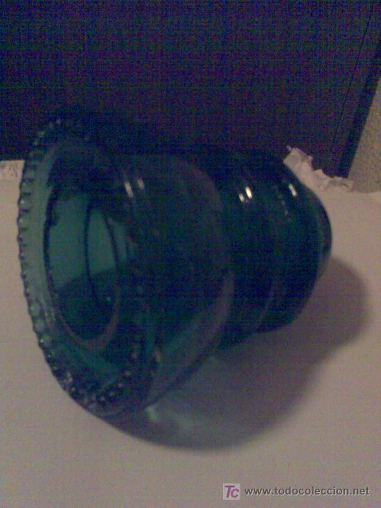 Antigüedades: Antiguo aislante eléctrico de vidrio de los postes de teléfonos y telégrafos. - Foto 2 - 23316424