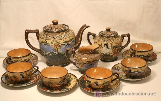 Juego de te japon s 1930 aprox comprar porcelana jap n for Juego de tazas de te