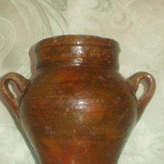 Antigüedades: ORZA EN CERAMICA POPULAR ANTIGUA VIDRIADA - LIQUIDACION. Lote 27275301