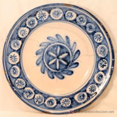 Antigüedades: PLATO GRANDE LAÑADO. MANISES SIGLO XIX. Lote 16541463