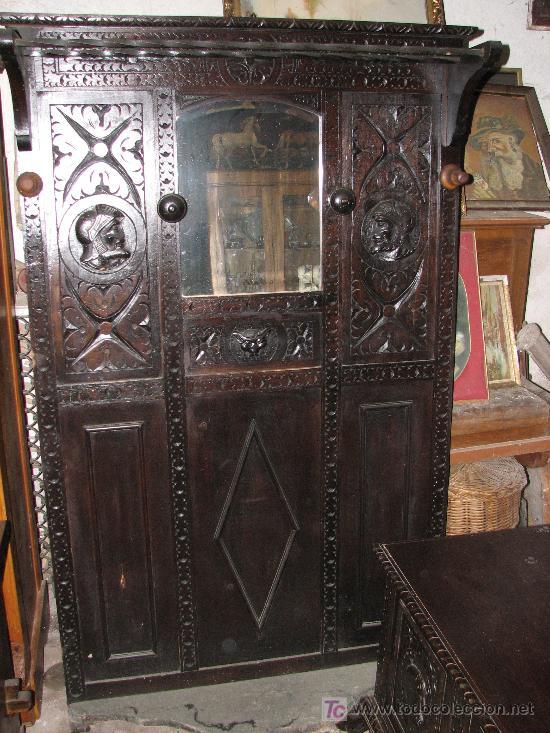 BONITO PARAGÜERO- SOMBRERERO DE MADERA DE CETIL. (Antigüedades - Muebles Antiguos - Revisteros Antiguos)