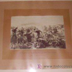 """Antigüedades: FOTOGRAFÍA ANTIGUA DEL CUADRO DE GRAN FORMATO """"LA BATALLA DE TREVIÑO"""", DE MORELLI, CA. 1897. LLEVA. Lote 8086898"""