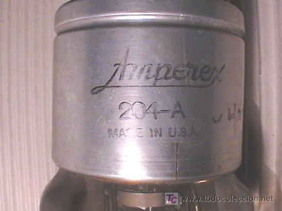 Antigüedades: ESPECTACULAR VALVULA MARCA: AMPEREX 204 FECHADA EN JUNIO DE 1941 ANTIGÜA 70 AÑOS MADE USA - Foto 3 - 23529950