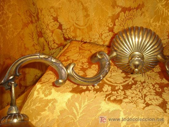 antigedades apliques de pared siglo xix en bronce con tulipas originales foto