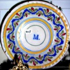 Antigüedades: PLATO GRANDE MANISES FINAL1800 MED; 30 CM .5,5 ALTO PROFUNDO (PALANGANA) . TIENE MARCAS.ENVÍO PAGO. Lote 26693175