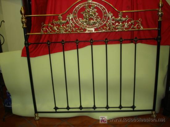 Cabecero de cama hierro forjado medallon de bro comprar - Camas antiguas de hierro ...