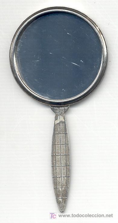 ESPEJO DE MANO ANTIGUO. 11,6X5,7 CM. VER EL DORSO EN FOTO ADICIONAL. (Antigüedades - Moda y Complementos - Mujer)
