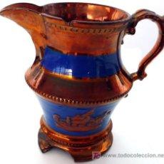 Antigüedades: AUTÉNTICA JARRA DE REFLEJOS DE BRISTOL, DE LAS LLAMADAS DE CRISTIANAR - S. XIX - PARA RESTAURAR. Lote 26472913