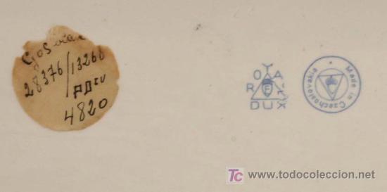 Antigüedades: figura en cerámica de perros. marcas en la base: ROYAL DUX. Made in czechoslovakia - Foto 5 - 23494274