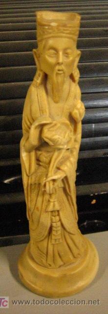FIGURA DE PASTA DE 25 CMS (Antigüedades - Varios)
