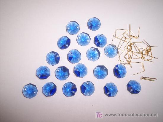 Cristal para lamparas en color azul comprar objetos de - Lamparas de cristal de colores ...