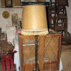 Antigüedades: LAMPARA DE PIE DE HIERRO. 175 CM DE ALTURA.. Lote 26298945