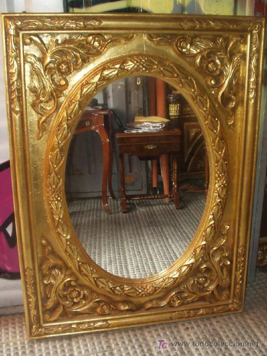 Excelente espejo estilo frances madera maciza e comprar - Estilo de muebles antiguos ...