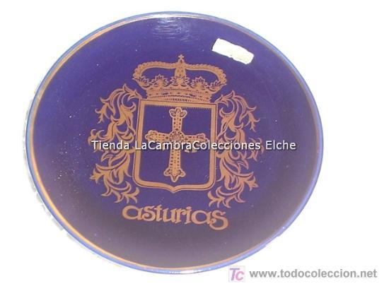 PLATITO CON EL ESCUDO DE ASTURIAS EN . AÑOS 30/40 (Antigüedades - Porcelanas y Cerámicas - Otras)