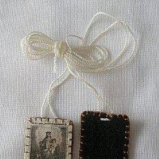 Antigüedades: ESCAPULARIO ANTIGUO TENED PIEDAD DE NOSOTROS. Lote 23766521