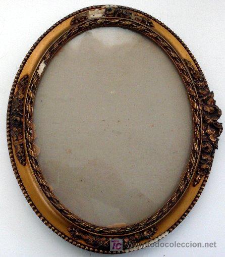Marco oval dorado a o 1935 para restaurar comprar for Antiguedades para restaurar