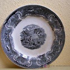 Antigüedades: PLATO. CACERIA DEL OSO CARTAGENA. Lote 27170391
