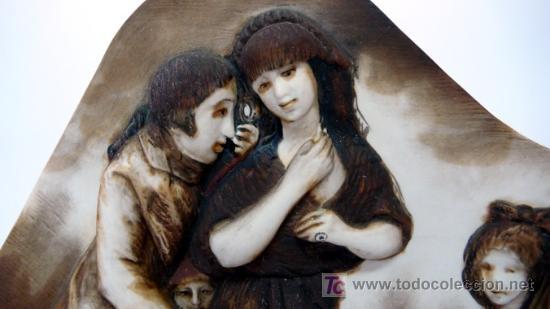 Antigüedades: ALGORA - BISCUIT DE PORCELANA , BASADA EN LOS CAPRICHOS DE GOYA - NI ASÍ LA DISTINGUE - S. XX - Foto 3 - 26266386