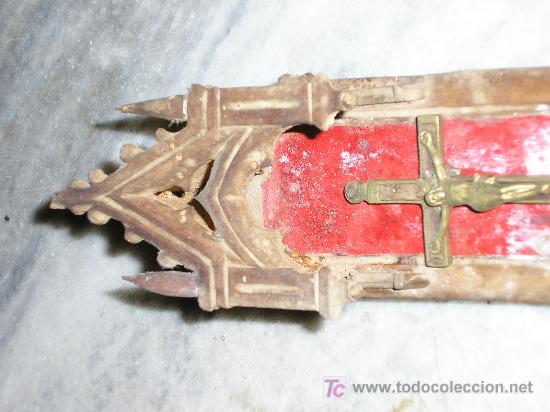 Antigüedades: HORNACINA - CAPILLA TALLADA EN MADERA * MUY ANTIGUA * - Foto 5 - 22018780