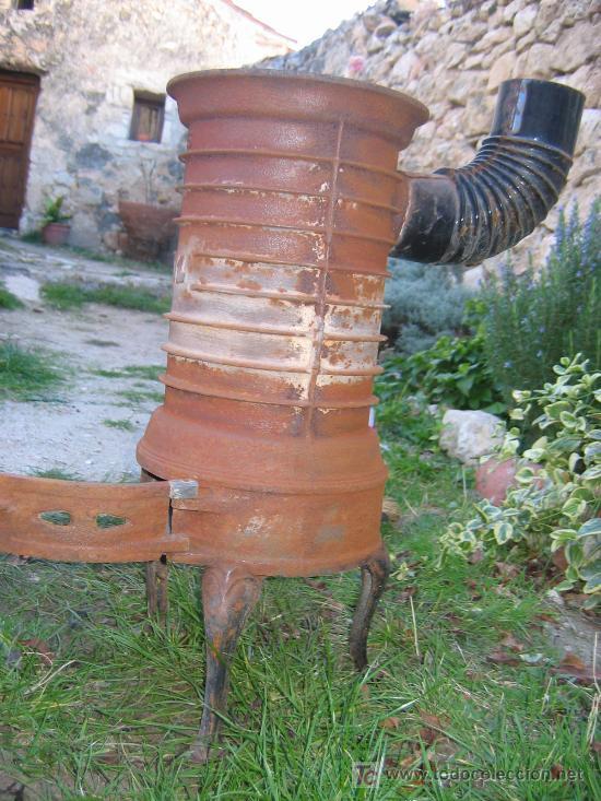 Estufa de hierro fundido antigua para astillas comprar for Estufa hierro fundido