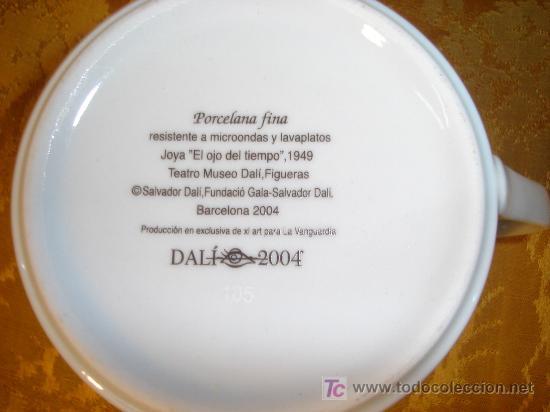 Antigüedades: TAZA Y PLATO DE SALVADOR DALI - Foto 3 - 37041449