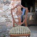 Antigüedades: 6 SILLAS DE MADERA DE HAYA VAPORIZADA.. Lote 27183815