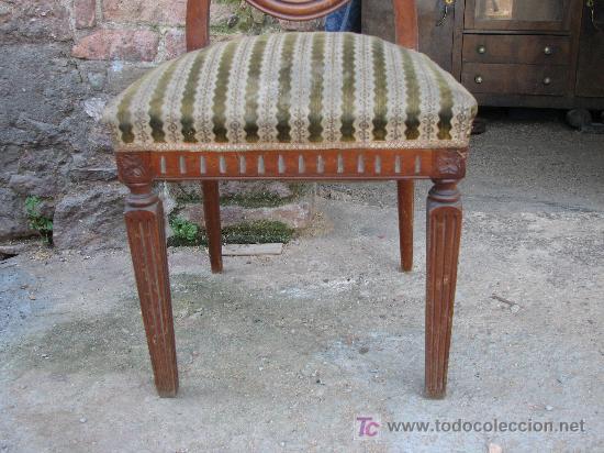 Antigüedades: 6 sillas de madera de haya vaporizada. - Foto 2 - 27183815