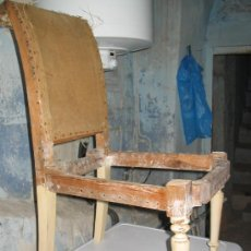 Antigüedades: LOTE DE 6 SILLAS DE SALON DE BAILE,A RESTAURAR. Lote 7783296