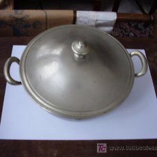 Antigüedades: SOPERA METAL PLATEADO. Lote 24109596