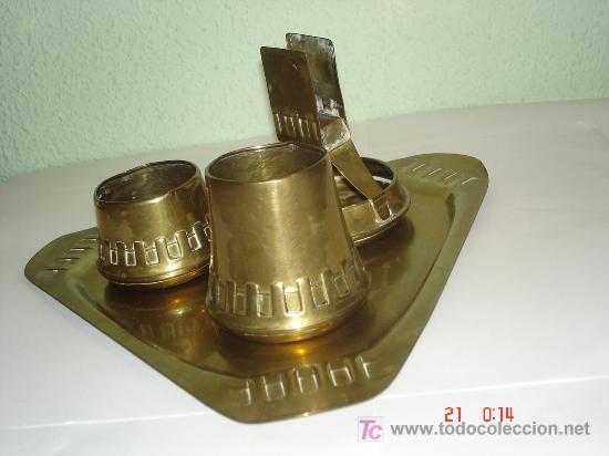 Antigüedades: JUEGO UTILES DE FUMADOR CON BANDEJA - Foto 2 - 26741428