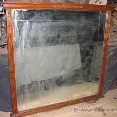 Antigüedades: ANTIGUO ESPEJO DE MADERA DE HAYA VAPORIZADA. 102X97 CM.. Lote 27280289