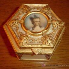 Antigüedades: MAGNIFICO JOYERO DE BRONCE Y MARFIL S.XIX. Lote 17468567