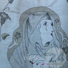 Antigüedades: OTRA UNICA ANTIGUA PIEZA LINO BORDADO PARA MULTIPLES USOS.. Lote 27423027