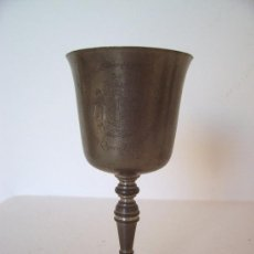 Antigüedades: COPA DE ESTAÑO INGLES DEL 25 ANIVERS DE LA REINA ISABELA DE INGLATERRA 1952 -77, EN INGLES (14CM). Lote 22032212