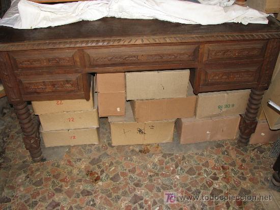 Antigua mesa de despacho de madera de haya por comprar for Mesa madera antigua